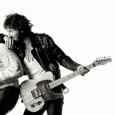 Bruce Springsteen op de cover van 'Born To Run'