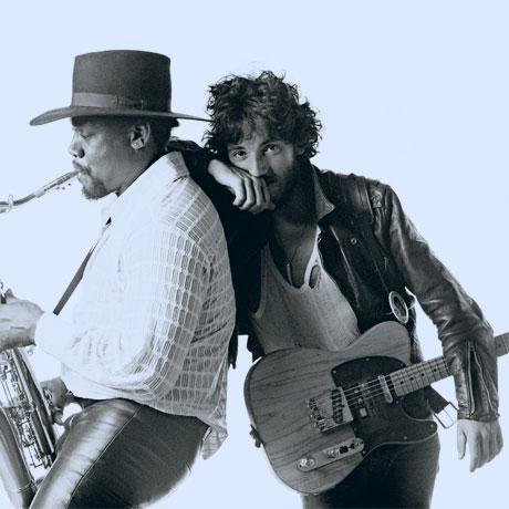Bruce Springsteen en Clarence Clemons
